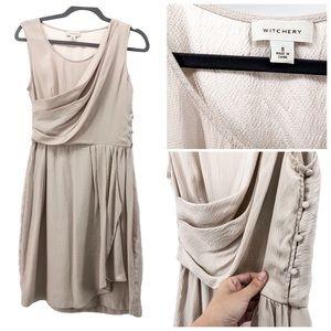 Witchery   Stunning Silk Drape Faux Wrap Dress